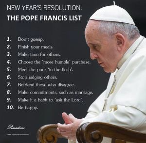 pope new year